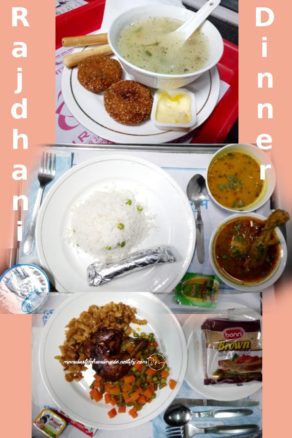pic Rajdhani-train-AC-1st-class-dinner-meal