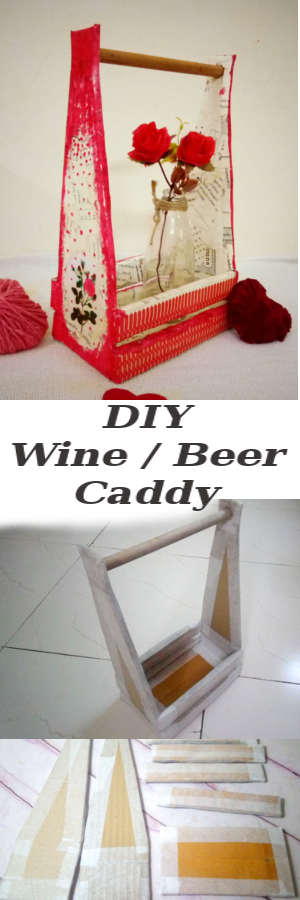 How-to-Construct-&-Decoupage-Wine-Beer-caddy-from-Cardboard